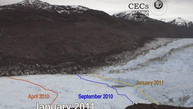 Eines der sichtbarsten Zeichen der Erderwärmung: Das Abschmelzen des Jorge-Montt-Gletschers (Archiv)