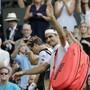 Hat bis jetzt gut lachen: Roger Federer zog in Wimbledon ohne Satzverlust in den Achtelfinal ein
