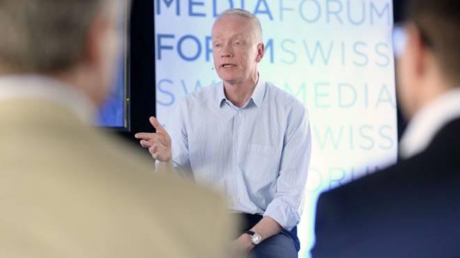 «Jyllands-Posten»-Chef Jørn Mikkelsen am Swiss Media Forum. Foto: NZZ Business Events