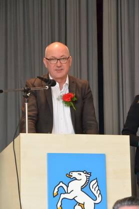 BL Regierungsrat Isaac Reber gratuliert zur Vernunftshochzeit.