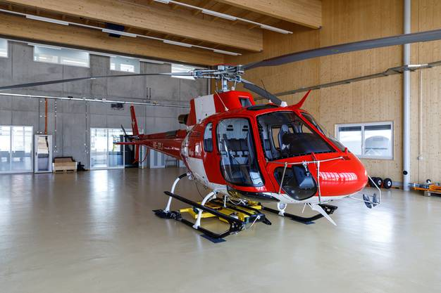 Der Rega Ausbildungs-Helikopter des Typs Airbus H125 ist neu in Grenchen stationiert.