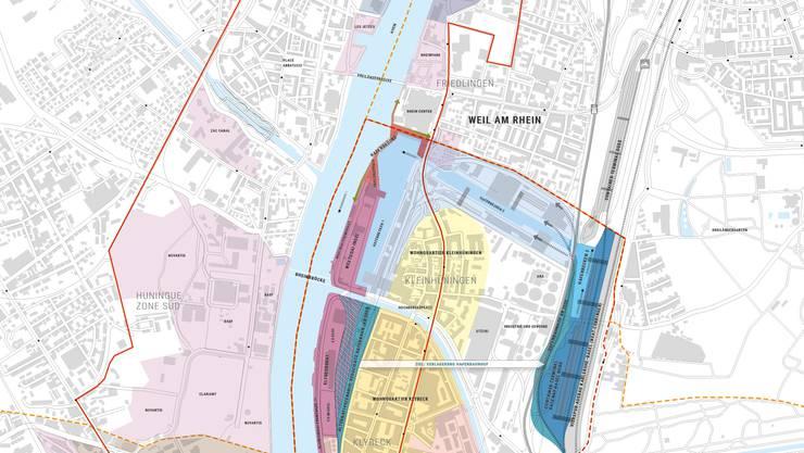 Karte Hafenstadt Klybeck