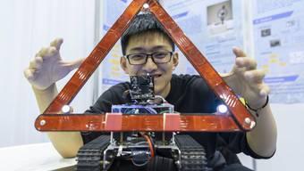 Erfindungen wie dieses selbstfahrende Pannendreieck an der Erfindermesse 2019 waren auch dieses Jahr gefragt.