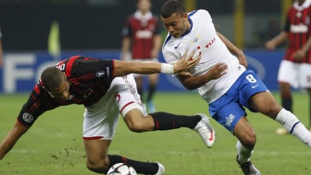Milans Onyewu geriet auch gegen FCZ-Angreifer Vonlanthen in Bedrängnis
