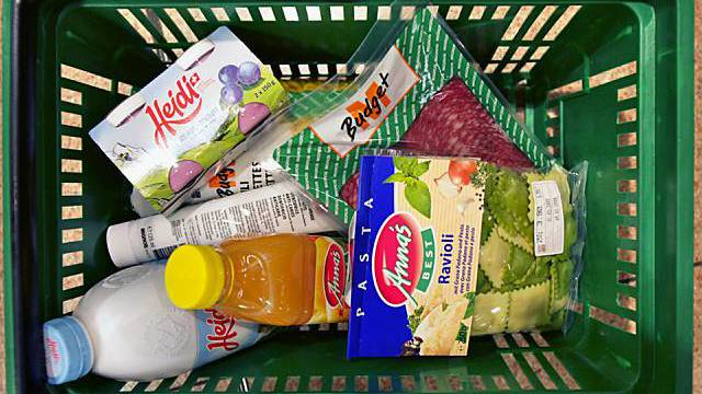 Der Lebensmittelkorb macht heute einen kleineren Teil der Ausgaben aus