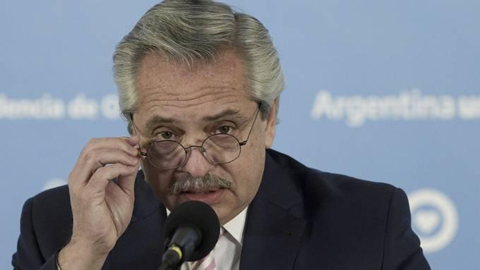 Alberto Fernández, Präsident Argentiniens.