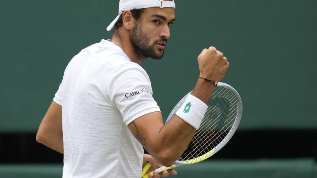 Im Hoch: Matteo Berrettini gewann vor drei Wochen das Turnier in Queen's und steht nun als erster Italiener im Wimbledonfinal