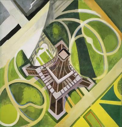Nach dem Ersten Weltkrieg kehrten Robert und Sonia Delaunay nach Paris zurück. Wieder war der Eiffelturm wichtiges Sujet.