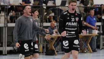 Impressionen vom vierten Playoff-Viertelfinalspiel: Wacker Thun - HSC Suhr Aarau