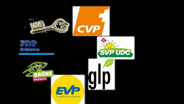 Logos der teilnehmenden Parteien