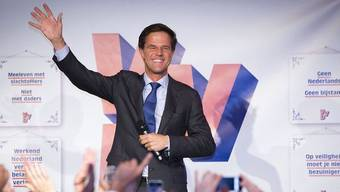 Der strahlende Sieger Mark Rutte