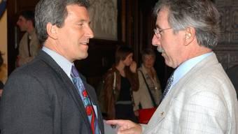 2003 standen sie noch einig Seite an Seite: Kurt Küng (l.) und Roland Borer im Solothurner Rathaus. Archiv