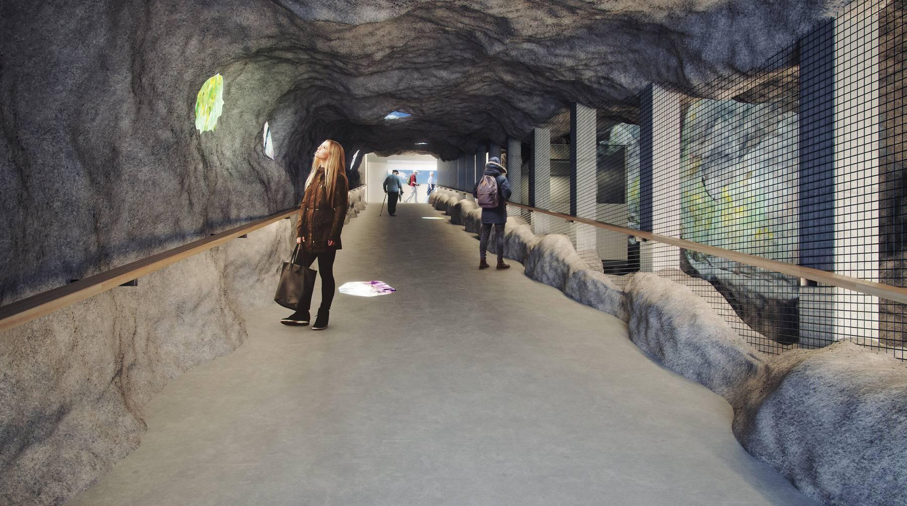 Der Tunnel soll wird breiter und ein Schräglift eingebaut werden.