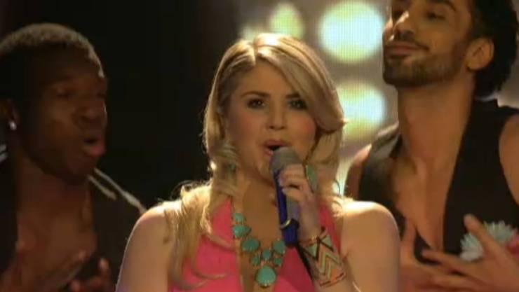 Beatrice Egli bei dem Lied «Du hast mich tausend Mal belogen».