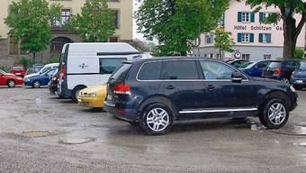 Hier käme das Parkhaus zu stehen: Burgmatte in Laufenburg. – Foto: sh