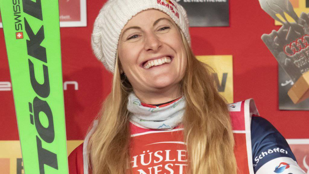 Strahlte am Montag bereits in Arosa als Siegerin: Skicrosserin Fanny Smith gewann in Innichen auch das zweite Weltcup-Rennen der Saison