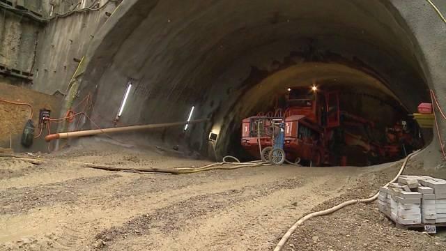 Bözbergtunnel: Besichtigungstermin auf der Baustelle (25.10.2016)