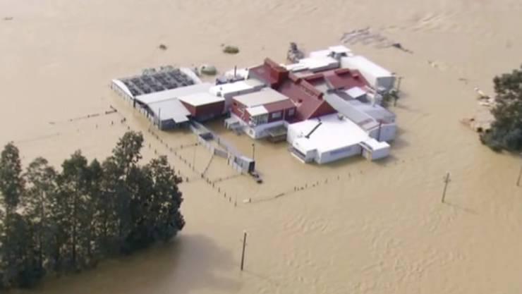 Wegen Überschwemmungen wie hier in Gore müssen in Neuseeland tausende Menschen ihre Häuser verlassen.