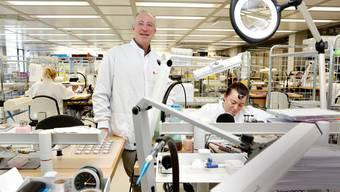 André Bernheim, Co-Chef der Uhrenfabrik Mondaine, freut sich auf Produktion und Verkauf der ersten Smartwatch aus dem eigenen Hause.
