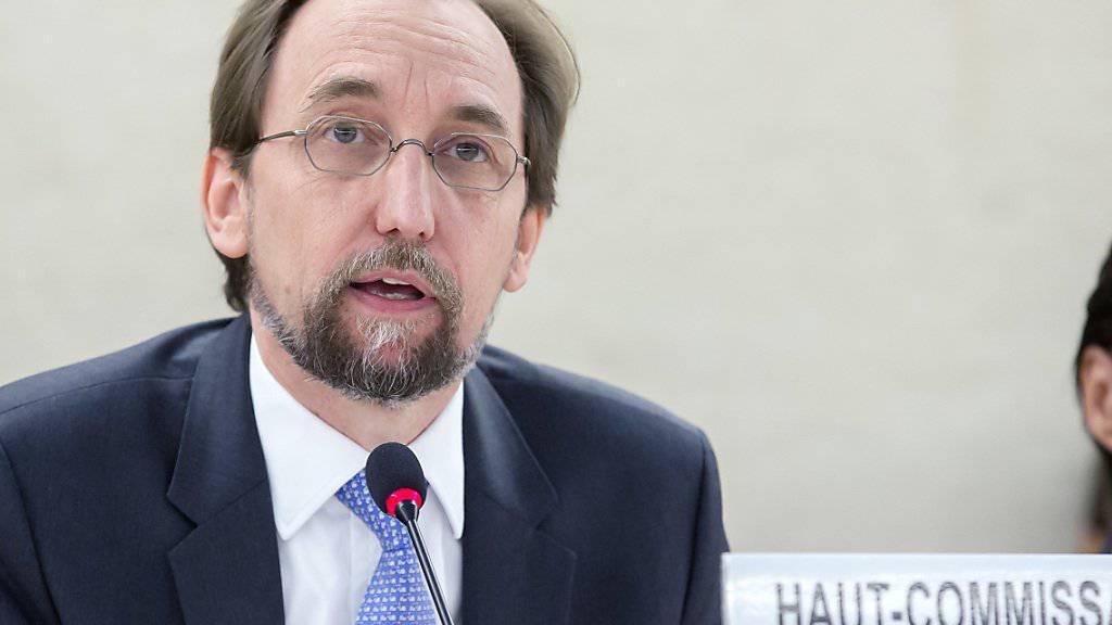 Uno-Menschenrechtskommissar Seid Raad al-Hussein hielt vor dem Menschenrechtsrat seine letzte grosse Rede und forderte mehr Widerstand gegen nationalistische Politik.