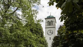 Kirchturm der reformierten Kirche in Grenchen.
