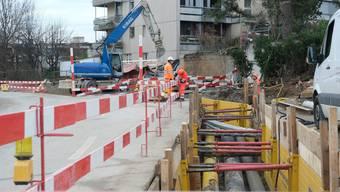Anwohner der Spitalstrasse ärgern sich über die Limmattalbahnbaustelle