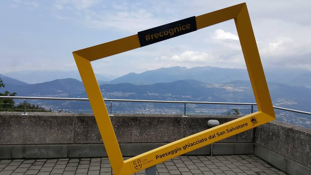 Premiere in Lugano: Bilderrahmen gibt Blick auf Gletscher frei