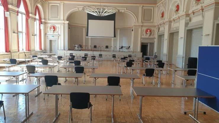 Das Oltner Parlament wir die Maisession ausnahmsweise im Konzertsaal abhalten.