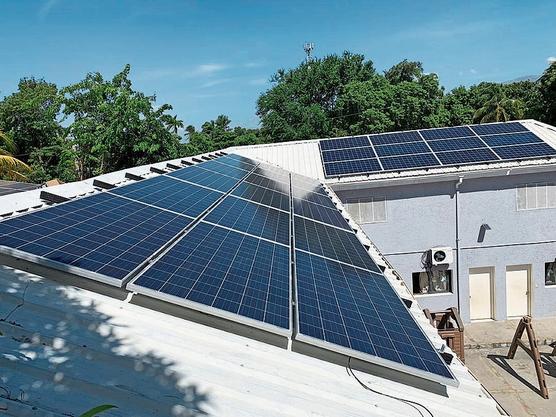 Maison des Anges versorgt  Waisenheim nun mit Solarstrom.