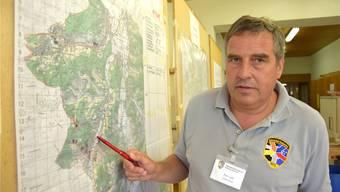 RFO-Chef Yvo Laib hat Militärunterstützung für die Hangsicherung angefordert. egu
