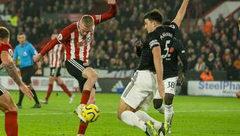 In dieser Aktion kassiert Manchester United den späten Ausgleich in Sheffield