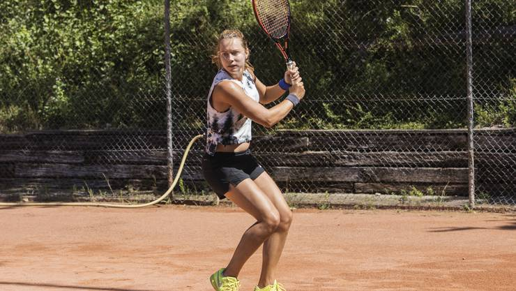 Stefanie Vögele spielt neu für den TC Unteres Aaretal.