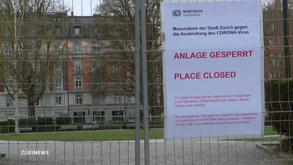 Zürich will abgesperrte Parkanlagen wieder öffnen