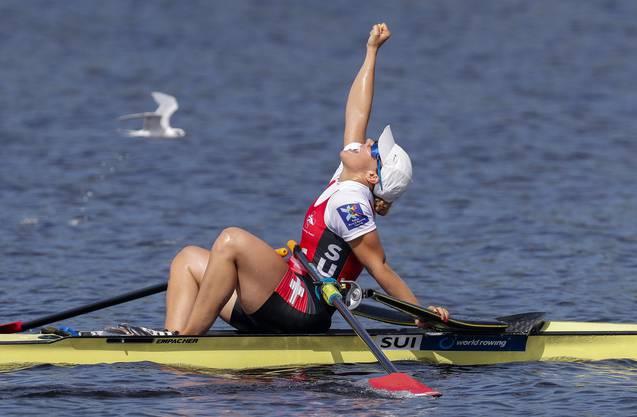 2017 wurde Jeannine Gmelin in Florida Weltmeisterin im Einer-Ruder.