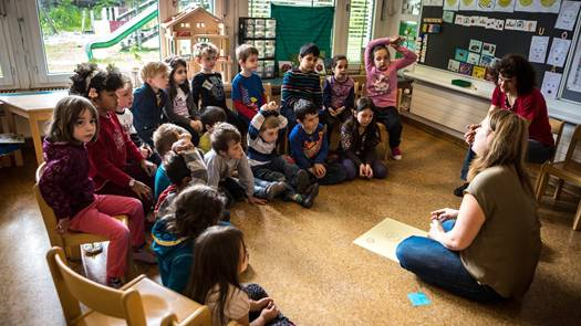 Kindergärtnerinnen im Aargau – hier in Wohlen – haben viele Fragen, wenn es um die Umsetzung der Mundartinitiative geht.