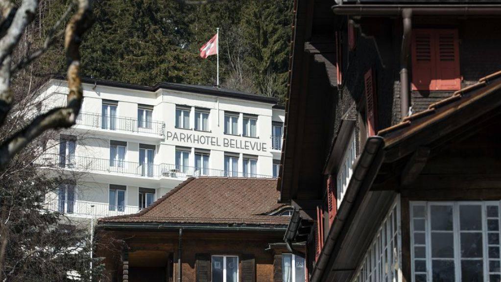 Parkhotel Bellevue Adelboden, fotografiert am 18. März 2015. (Archiv)