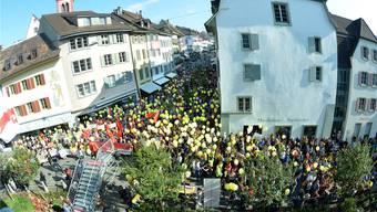 Bereits im September 2015 kam es zu grösseren Kundgebungen in Liestal. Nicole Nars-Zimmer/Archiv