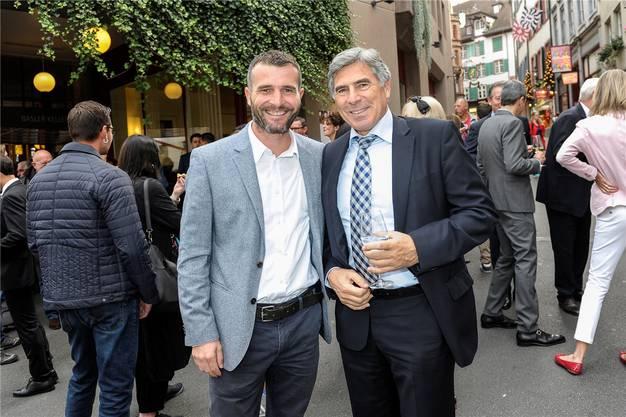 Der Torgarant und der (einzige) Politiker: der abgetretene Fussballer Alex Frei und der abtretende Regierungsrat Christoph Eymann.