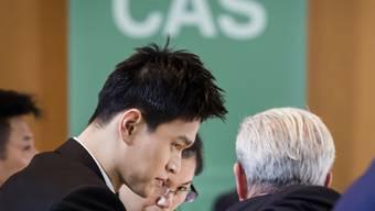 Sun Yang (links) ist vom Sportgerichtshof für acht Jahre gesperrt worden
