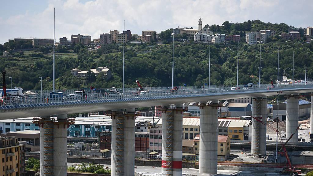 Neue Autobahnbrücke in Genua wird feierlich eingeweiht