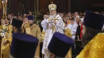 Der Patriarch von Moskau bei der Messe