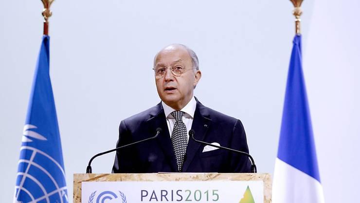 Verhandlungsleiter Laurent Fabius, hauptberuflich französischer Aussenminister, will bis Freitag einen Klima-Vertrag ausgearbeitet sehen.
