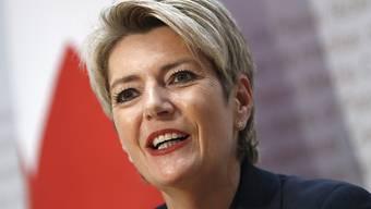 Die neu gewählte Bundesrätin Karin Keller-Sutter übernimmt das Justiz- und Polizeidepartement.