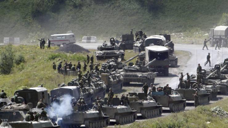 Die russische Armee marschierte im August 2008 im Georgien-Konflikt in die abtrünnige Provinz Südossetien ein. (Archivbild)