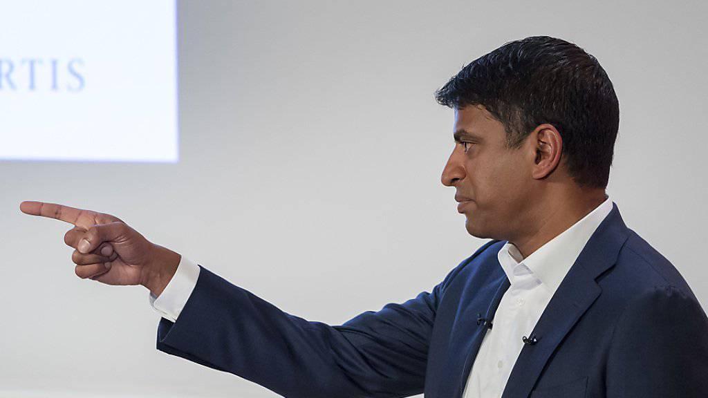 """Novartis-Chef Vas Narasimhan hat das Dossier """"Michael Cohen"""" nach wie vor nicht vom Tisch. (Archivbild)"""