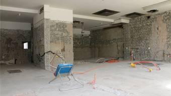 In einigen Woche soll in diesem Raum die Küche des Restaurants Rebstock entstehen. Der Neubau der Küche kostet rund 600000 Franken. Dennis Kalt