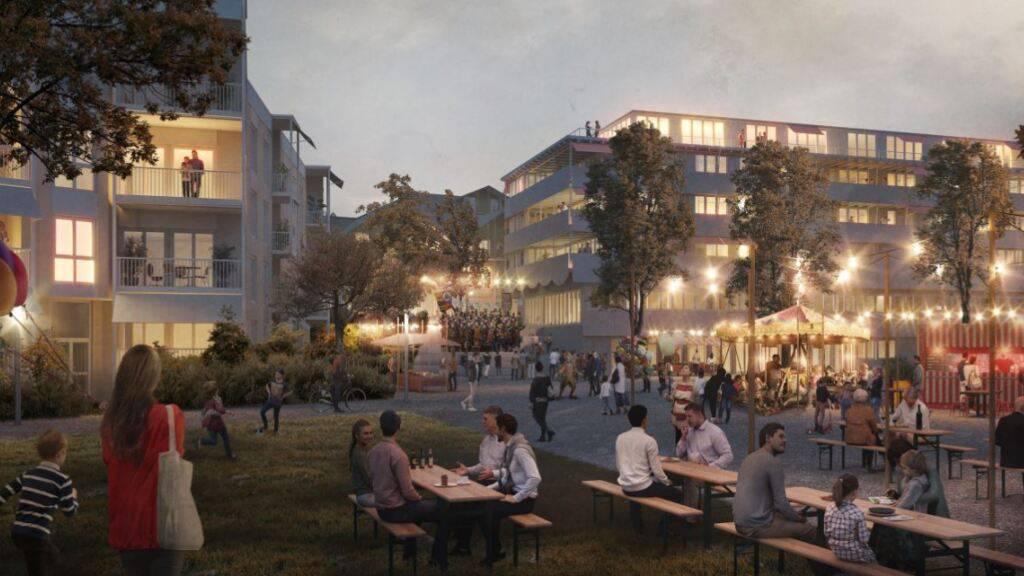 Über hundert neue Wohnungen im Zentrum von Buchrain geplant