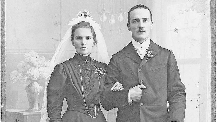 Das Hochzeitsbild von Jean und Anna Dobler-Ziegler.