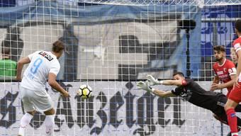 Michael Frey war der Mann des Spiels beim 3:3 zwischen Zürich und Sion und erzielte drei Treffer