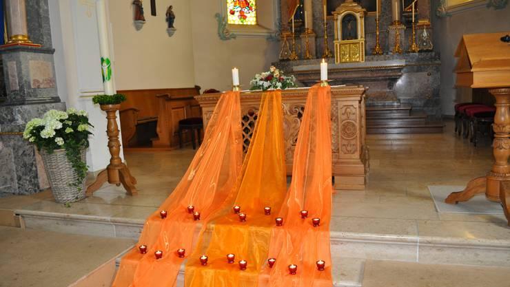 Das Taizé-Gebet in der Pfarrkirche Würenlingen: ein Ort des Gesangs, der Stille und Geborgenheit.